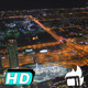 Roundabout Aerial Night Skyline - VideoHive Item for Sale