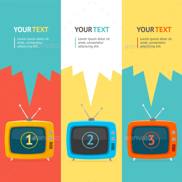 GraphicRiver Vector Retro tv Option Banner 10542673