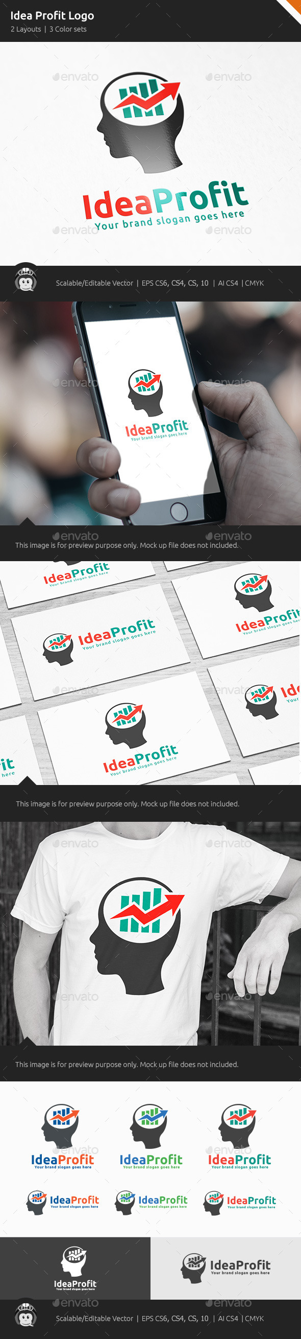 GraphicRiver Idea Profit Marketing Logo 10542966