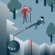 Debt Takes Off Man over a Cliff - GraphicRiver Item for Sale