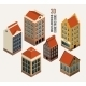 Isometric Houses - GraphicRiver Item for Sale