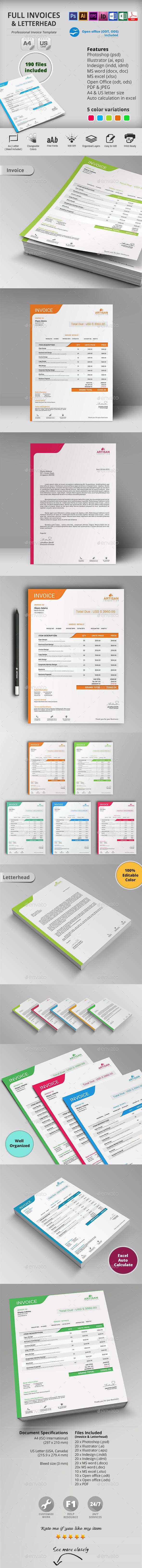 GraphicRiver Invoice with Letterhead 10543282