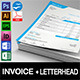 Invoice with Letterhead - GraphicRiver Item for Sale