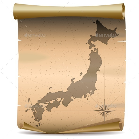 GraphicRiver Vector Japan Vintage Map 10543499