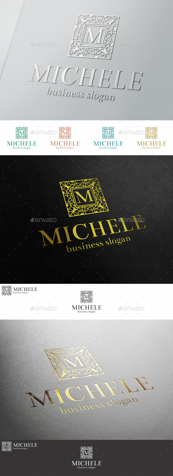 GraphicRiver Fashion Boutique Elegant Letter Crest Logo 10543576
