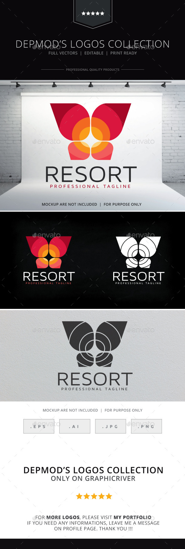 GraphicRiver Resort Logo 10543642