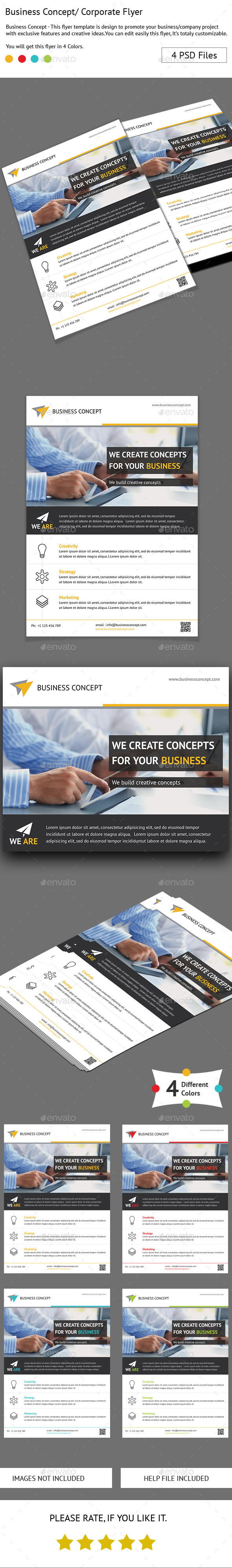 GraphicRiver Business Concept Flyer 10484926