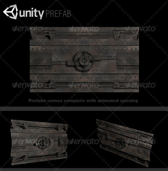 3DOcean Vault Door Prefab 132332