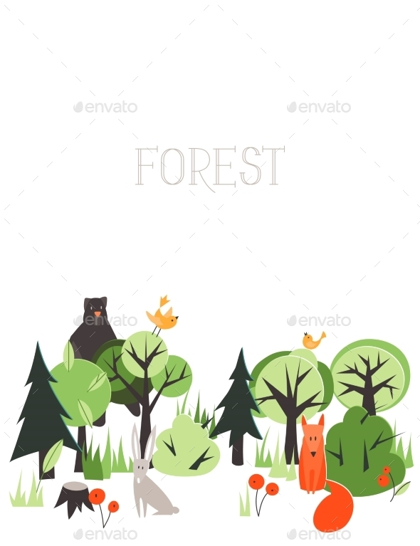GraphicRiver Forest Animals 10544070