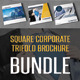 Square Corporate Trifold Brochure Bundle - GraphicRiver Item for Sale