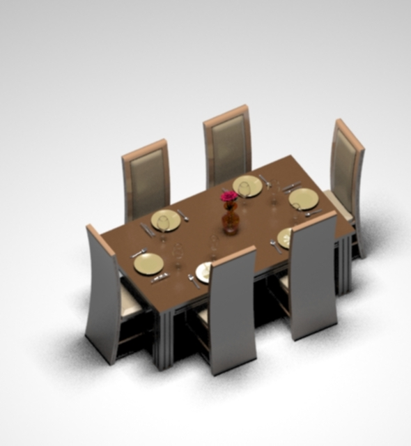 3DOcean Dinning Table Set 10544319