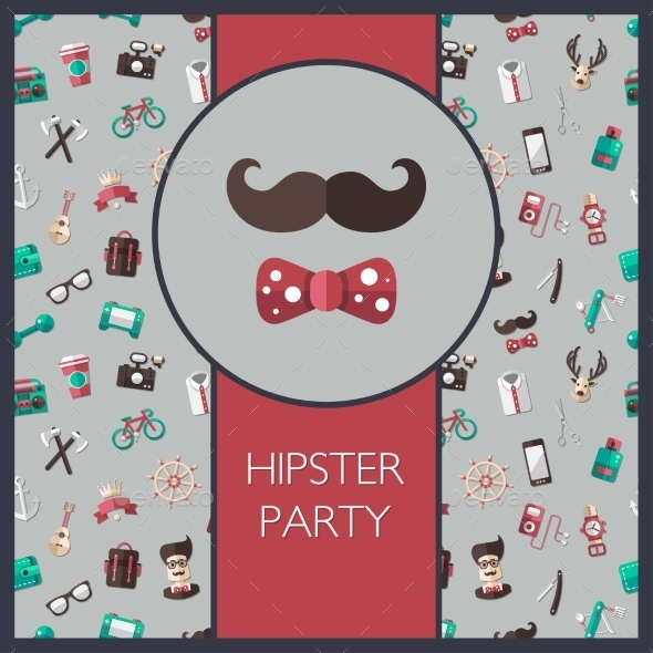 GraphicRiver Hipster Card 10544369