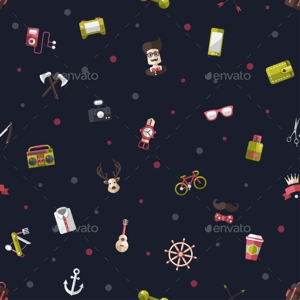 GraphicRiver Hipster Pattern 10544373