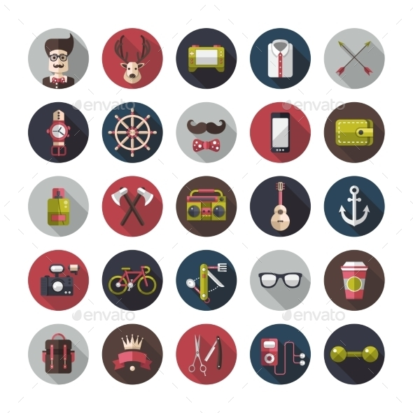 GraphicRiver Hipster Icons 10544380