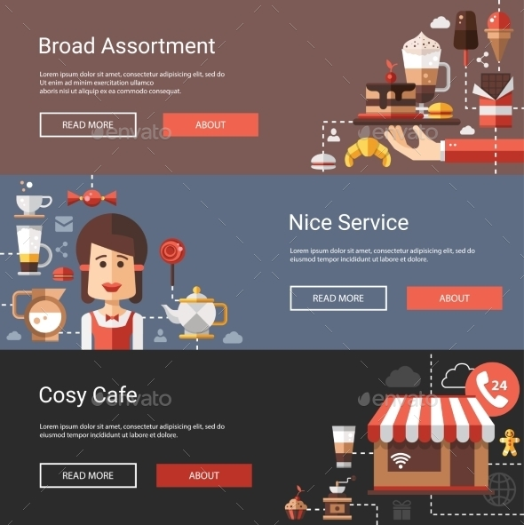GraphicRiver Coffee Shop Banners 10544433