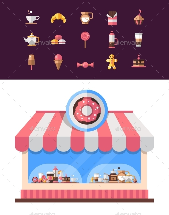 GraphicRiver Coffee Shop Icons 10544456