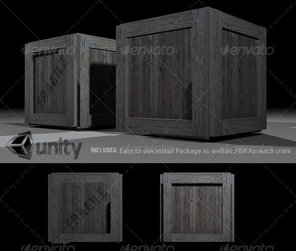 3DOcean Crates Prefab 132335