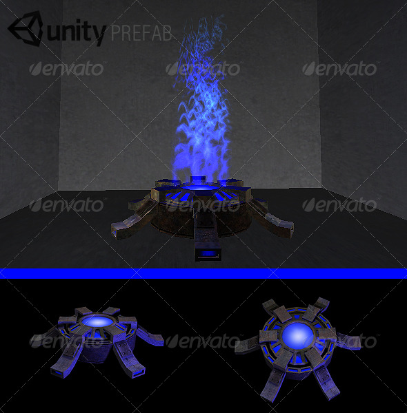 Teleporter / Respawn Prefab - 3DOcean Item for Sale