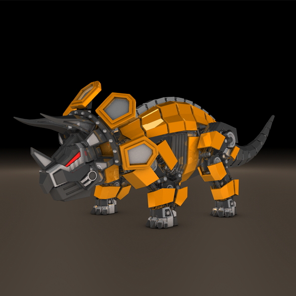 Triceratops robot - 3DOcean Item for Sale