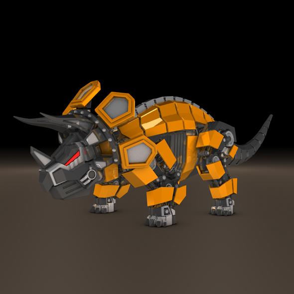 3DOcean Triceratops robot 10544739