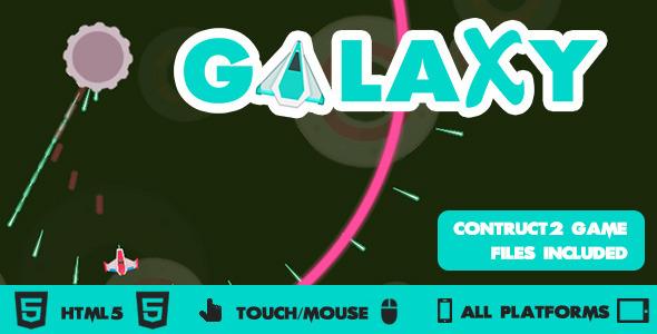 CodeCanyon Galaxy Wars Circular Shooter HTML5 Construct2 Game 10544866