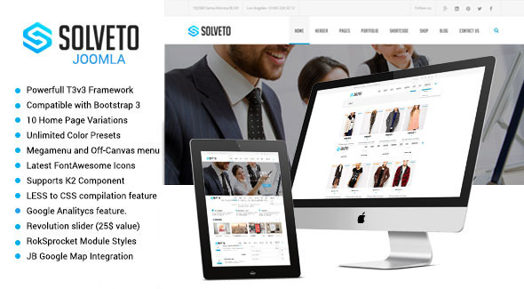 ThemeForest Solveto Multipurpose Joomla Template 10469822