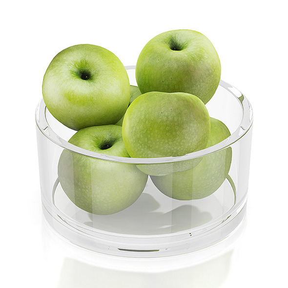 3DOcean Apples in glass bowl 10545085