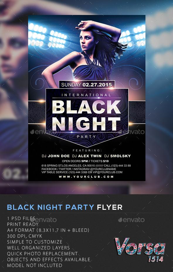 GraphicRiver Black Night Flyer 10545273