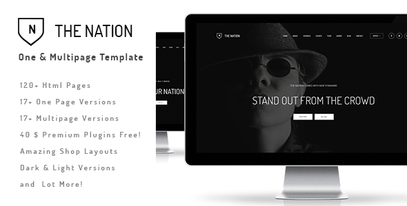 ThemeForest The Nation Responsive One Multi Page Template 10491179