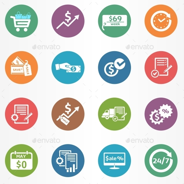 GraphicRiver Business Icons Set 10546078