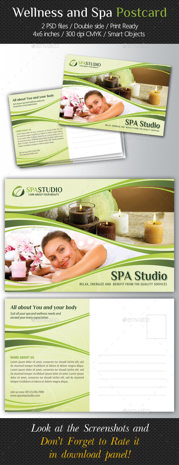 GraphicRiver Wellness and Spa Postcard Template V02 10546222