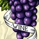 "Illustration engraving ""Grapes Ribbon Wine"" - GraphicRiver Item for Sale"