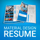 MaDe - Material Design Resume / CV Template - GraphicRiver Item for Sale