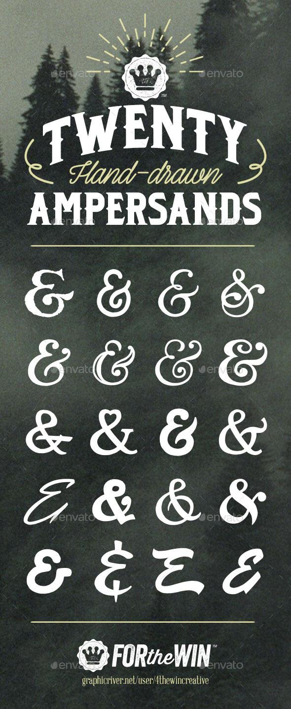 GraphicRiver 20 Hand-Drawn Ampersands 10546634
