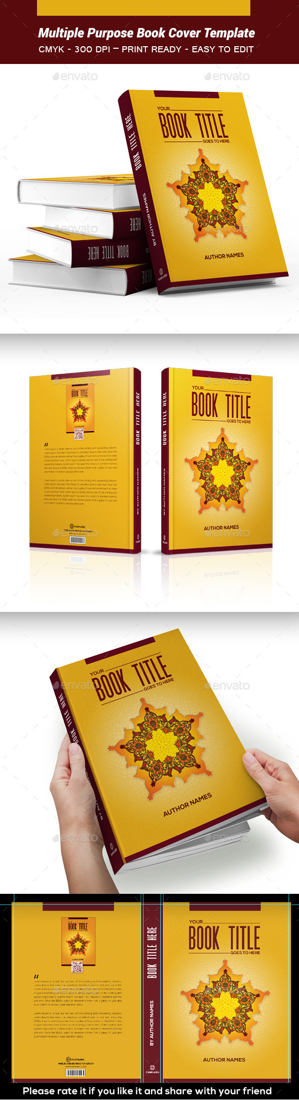 GraphicRiver Multiple Purpose Book Cover Template 03 10546673
