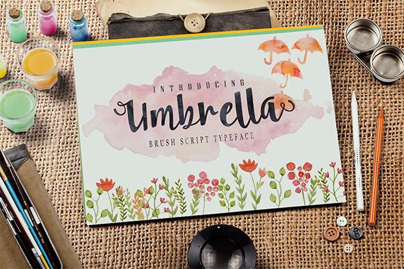 GraphicRiver Font Umbrella Script 10546722