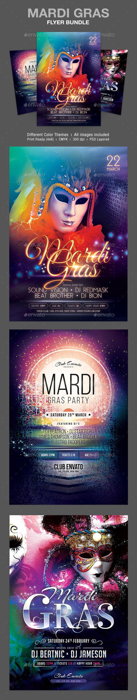 GraphicRiver Mardi Gras Flyer Bundle 10546753