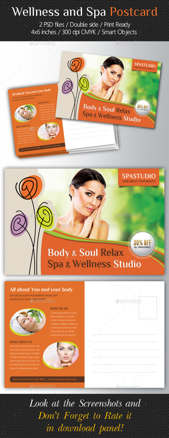 GraphicRiver Wellness and Spa Postcard Template V03 10546791