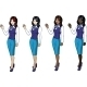 4 stewardesses in Blue Suits  - GraphicRiver Item for Sale