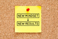 New Mindset New Results Sticky Note - PhotoDune Item for Sale
