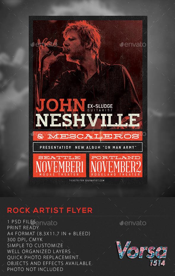 GraphicRiver Rock Artist flyer 10546920