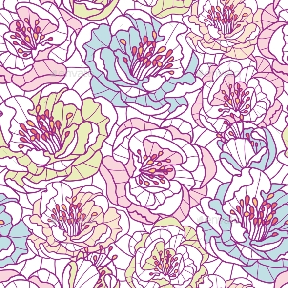 GraphicRiver Flower Pattern 10547043