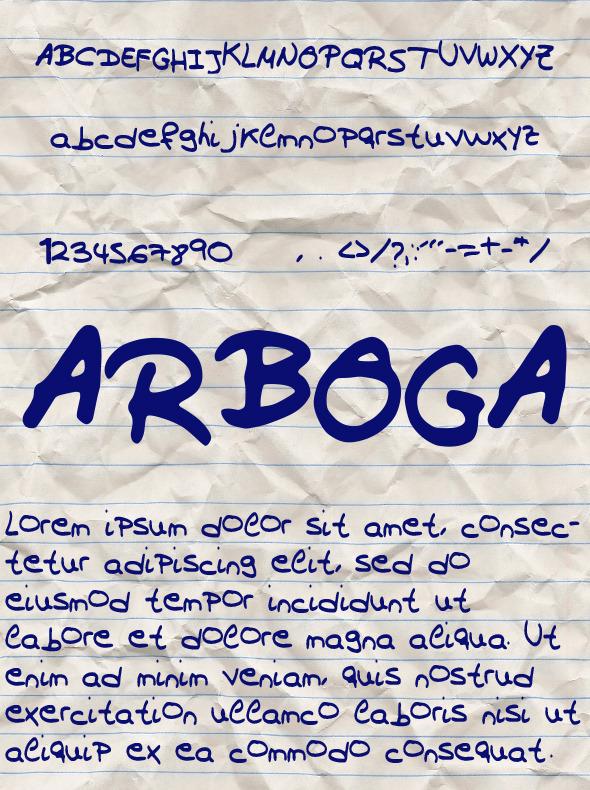 GraphicRiver Arboga Font 10547052