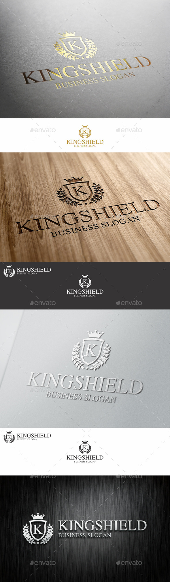 GraphicRiver King Shield Royal Crest Logo 10547070