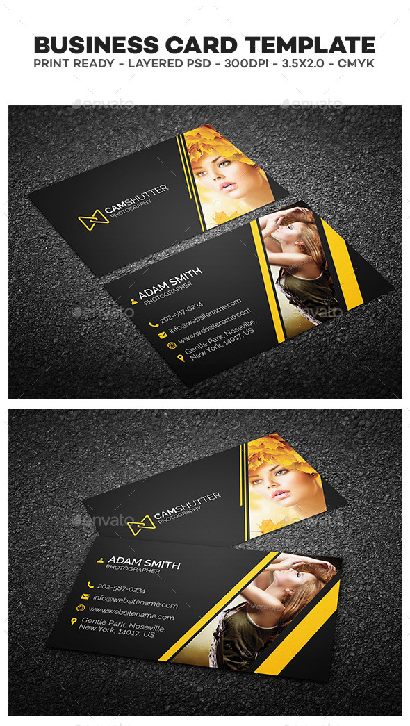 GraphicRiver Photography Business Card 10547080