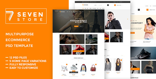 Seven Store  - Ecommerce PSD Template