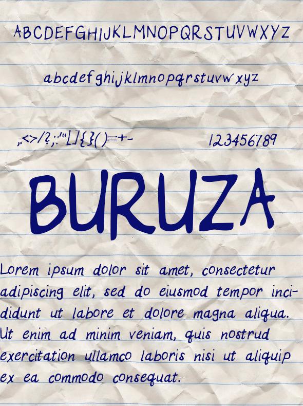 GraphicRiver Buruza Font 10547110