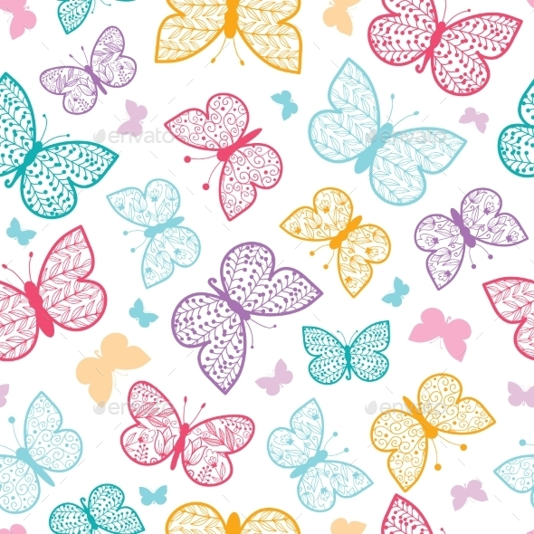 GraphicRiver Butterflies Pattern 10547118