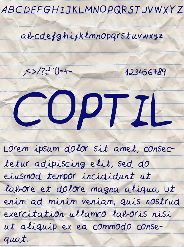 GraphicRiver Coptil Font 10547157