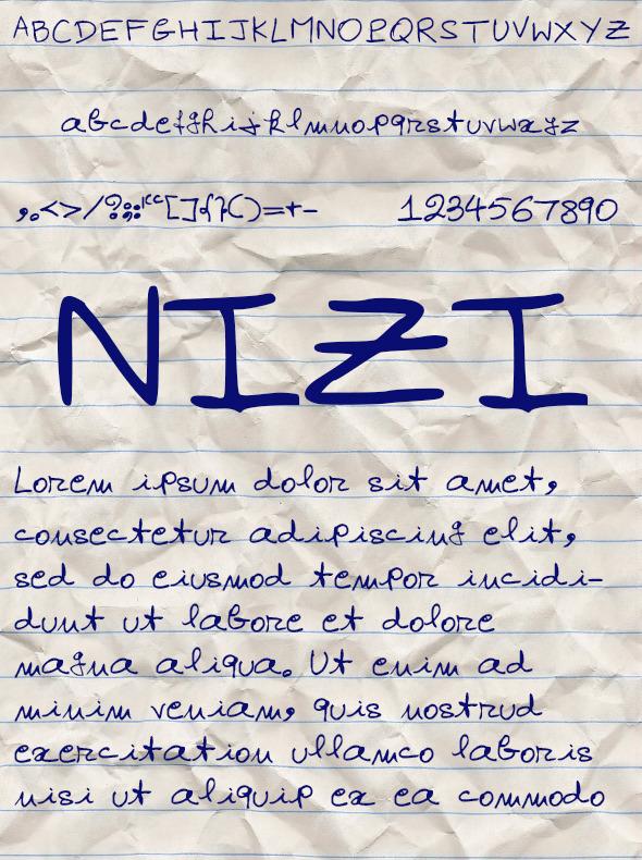 GraphicRiver Nizi Font 10547189